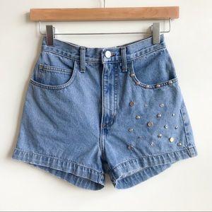 Vintage 90's Guess High Waist Studded Shorts